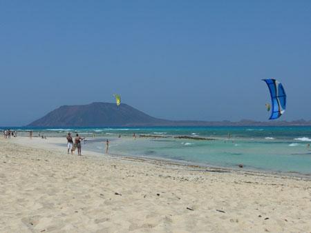 Isla de Lobos vom Playa de Corralejo (Fuerteventura) aus