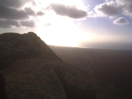 Abendstimmung auf dem Berg Tindaya