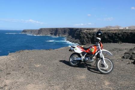 Motorrad am meer